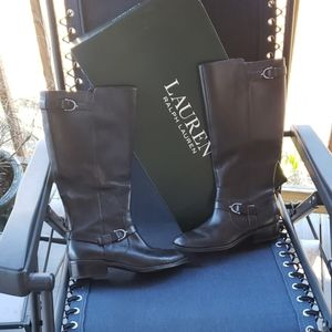 Ralph Lauren Margarite Boot Black